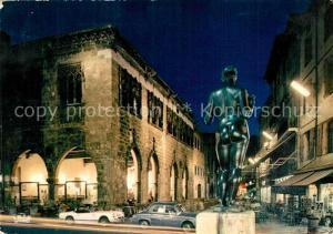 Perpignan La Loge de mer Vue de nuit au premier plan Statue de Maillol La Venus Perpignan