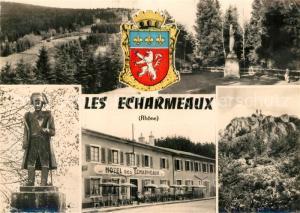 Les Echarmeaux Hotel des Echarmeaux Statue Napoleon Parc