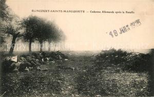AK / Ansichtskarte Elincourt Sainte Marguerite Cadavres Allemands apres la Bataille Elincourt Sainte Marguerite