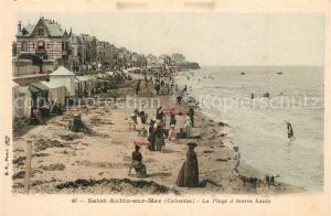 AK / Ansichtskarte Saint Aubin sur Mer_Calvados Plage  Saint Aubin sur Mer