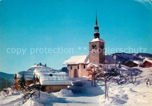 AK / Ansichtskarte Saint Nicolas la Chapelle_Savoie Eglise sous la neige Saint Nicolas la Chapelle