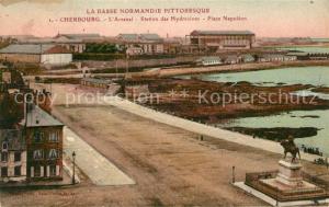 AK / Ansichtskarte Cherbourg_Octeville_Basse_Normandie Arsenal Station des Hydravions Place Napoleon Cherbourg_Octeville