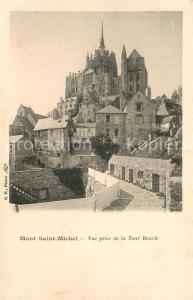 AK / Ansichtskarte Mont Saint Michel Vue prise de la Tour Boucle Mont Saint Michel