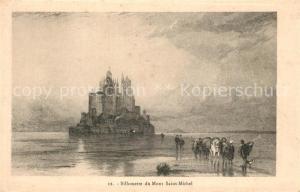 AK / Ansichtskarte Mont Saint Michel Silhouette Mont Saint Michel