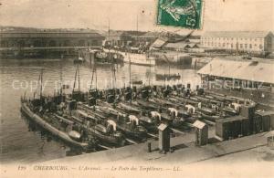 AK / Ansichtskarte Cherbourg_Octeville_Basse_Normandie Arsenal Le Poste des Torpilleurs Cherbourg_Octeville