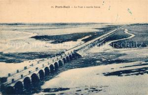 AK / Ansichtskarte Portbail Le Pont a maree basse Portbail