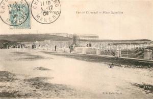 AK / Ansichtskarte Cherbourg_Octeville_Basse_Normandie Vue de l'Arsenal Place Napoleon Cherbourg_Octeville
