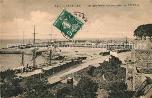AK / Ansichtskarte Granville_Manche Vue generale des bassins Granville_Manche