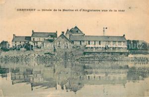 AK / Ansichtskarte Carteret_Manche Hotels de la Marine et d'Angleterre vus de la mer Carteret Manche