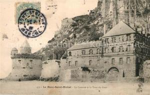 AK / Ansichtskarte Mont Saint Michel La Caserne et la Tour du Guet Mont Saint Michel