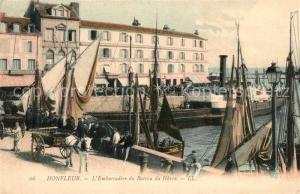 AK / Ansichtskarte Honfleur Embarcadere du Bateau du Havre Honfleur