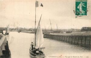 AK / Ansichtskarte Courseulles sur Mer Vue sur le Bassin du Port Courseulles sur Mer