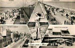 AK / Ansichtskarte Luc sur Mer La Plage La Promenade Rue Docts J Charcot Squelette de la Baleine Luc sur Mer