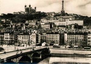 AK / Ansichtskarte Lyon_France Le Pont au Change et coteau de Fourviere Lyon France