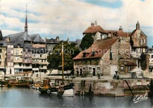 AK / Ansichtskarte Honfleur Le Bassin de l'Ouest et la Lieutenance Honfleur