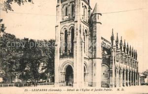 AK / Ansichtskarte Lesparre Medoc Eglise Jardin Public Lesparre Medoc