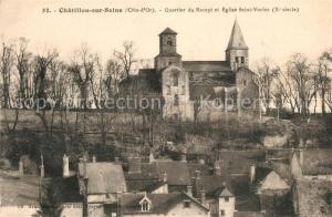 AK / Ansichtskarte Chatillon sur Seine Quartier du Recept Eglise Saint Vorles Xe siecle Chatillon sur Seine