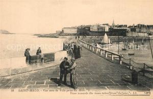 AK / Ansichtskarte Saint Malo_Ille et Vilaine_Bretagne Vue vers la ville prise du mole Saint Malo_Ille et Vilaine