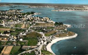 AK / Ansichtskarte Larmor Plage Vue aerienne de l Estuaire de la Rade de Lorient Larmor Plage
