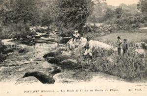 AK / Ansichtskarte Pont Aven Les bords de l Aven au Moulin du Plessis Pont Aven