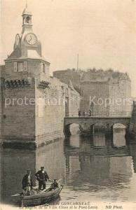 AK / Ansichtskarte Concarneau_Finistere Le Beffroi de la Ville Close et le Pont Levis Concarneau_Finistere