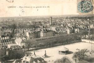 AK / Ansichtskarte Lorient_Morbihan_Bretagne Place d Armes et vue generale de la ville Lorient_Morbihan_Bretagne