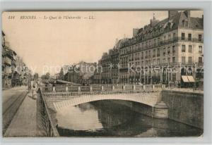 AK / Ansichtskarte Rennes_Ille et Vilaine Quai de l Universite Pont