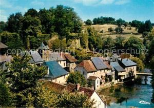 AK / Ansichtskarte Segur le Chateau Cite medievale Bords de l Auvezere et le chateau Segur le Chateau