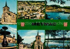 AK / Ansichtskarte Meymac Eglise Piscine Etang de Merlancon Meymac