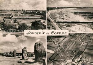 AK / Ansichtskarte Carnac_Morbihan Vue panoramique Plage Rochers vue aerienne Carnac Morbihan