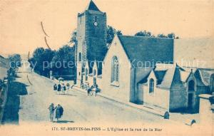 AK / Ansichtskarte Saint Brevin les Pins Eglise Rue de la Mer Saint Brevin les Pins