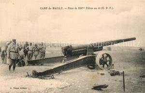 AK / Ansichtskarte Camp_de_Mailly Kanone Camp_de_Mailly