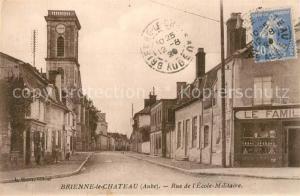 AK / Ansichtskarte Brienne le Chateau Rue de l Ecole Militaire Brienne le Chateau