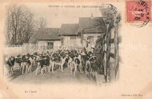 AK / Ansichtskarte Fontainebleau_Seine_et_Marne Chasses a Courre Chenil  Fontainebleau_Seine