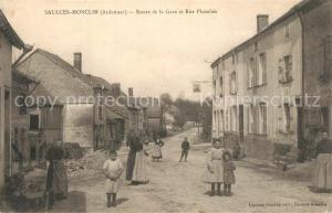 AK / Ansichtskarte Saulces Monclin Route de la Gare et Rue Plombee Saulces Monclin