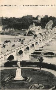 AK / Ansichtskarte Tours_Indre et Loire Pont de Pierre sur la Loire Tours Indre et Loire