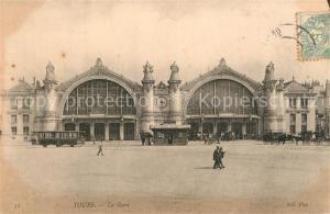 AK / Ansichtskarte Tours_Indre et Loire La Gare Tours Indre et Loire