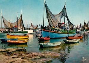 AK / Ansichtskarte Lesconil_Plobannalec Bateaux de peche dans le port
