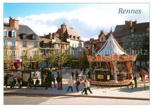 AK / Ansichtskarte Rennes_Ille et Vilaine Place Sainte Anne Maisons a pans de boix XVIe siecle