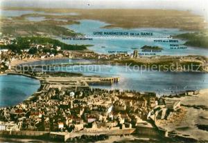 AK / Ansichtskarte Saint Malo_Ille et Vilaine_Bretagne Vallee de la Rance Saint Servan et Dinard Usine Maremotrice vue aerienne Saint Malo_Ille et Vilaine