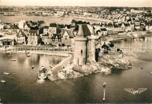 AK / Ansichtskarte Saint Servan_Ille et Vilaine Tour et Cale Solidor Embarcadere du Bac pour Dinard vue aerienne Saint Servan