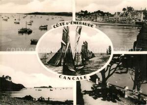 AK / Ansichtskarte Cancale Bisquine Cancalaise Port Hotels de la Houle Rocher de Cancale Promenade du Hoc Cancale