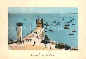 AK / Ansichtskarte Cancale Digue et phare Illustration Cancale