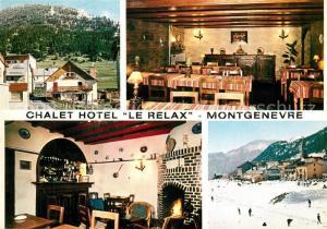 AK / Ansichtskarte Montgenevre Chalet Hotel Le Relax en hiver et en ete Alpes Montgenevre