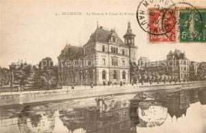 AK / Ansichtskarte Mulhouse_Muehlhausen La Poste Canal du Rhone Mulhouse Muehlhausen