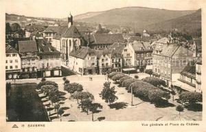 AK / Ansichtskarte Saverne_Bas_Rhin_Alsace Panorama Place du Chateau Saverne_Bas_Rhin_Alsace