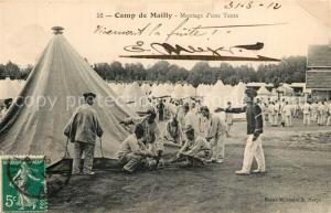 AK / Ansichtskarte Camp_de_Mailly Montage d une Tente Camp_de_Mailly