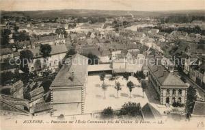 AK / Ansichtskarte Auxerre Panorama l Ecole Communale Clocher Sainte Pierre Auxerre
