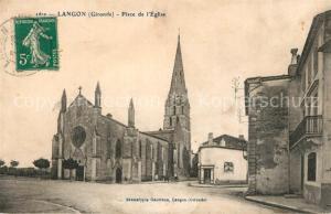 AK / Ansichtskarte Langon_Gironde Place d Eglise Langon Gironde