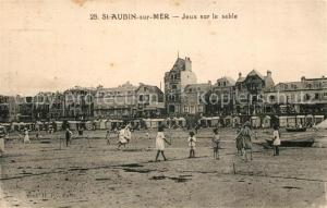 AK / Ansichtskarte Saint Aubin sur Mer_Calvados Jeux sur le sable Saint Aubin sur Mer